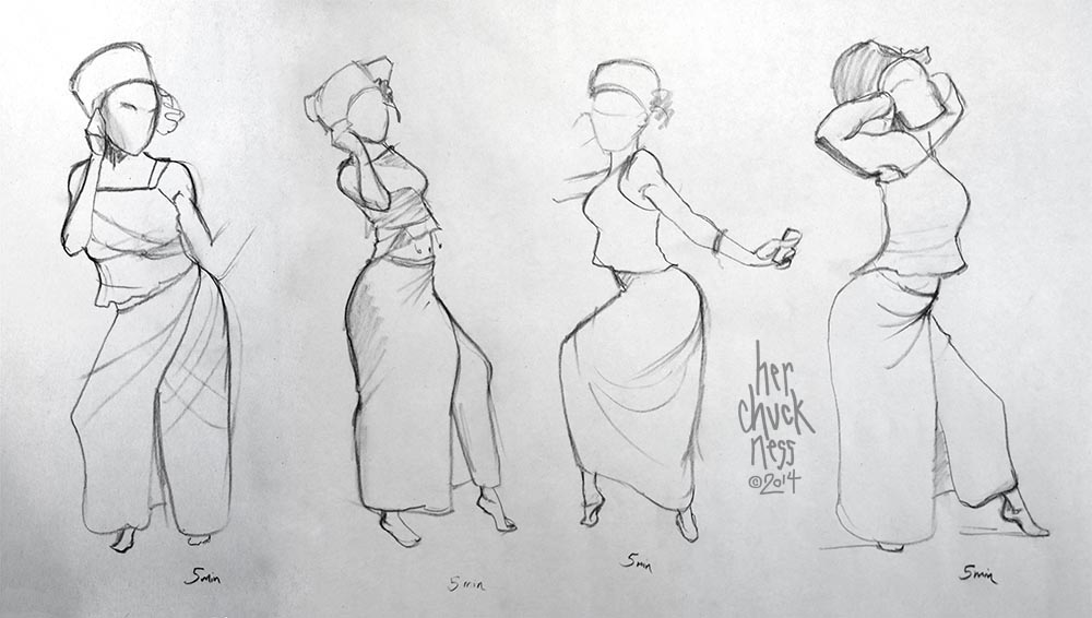 clothed figure drawing 1