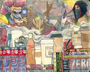 tiny teahouse painting - herchuckness » art blog